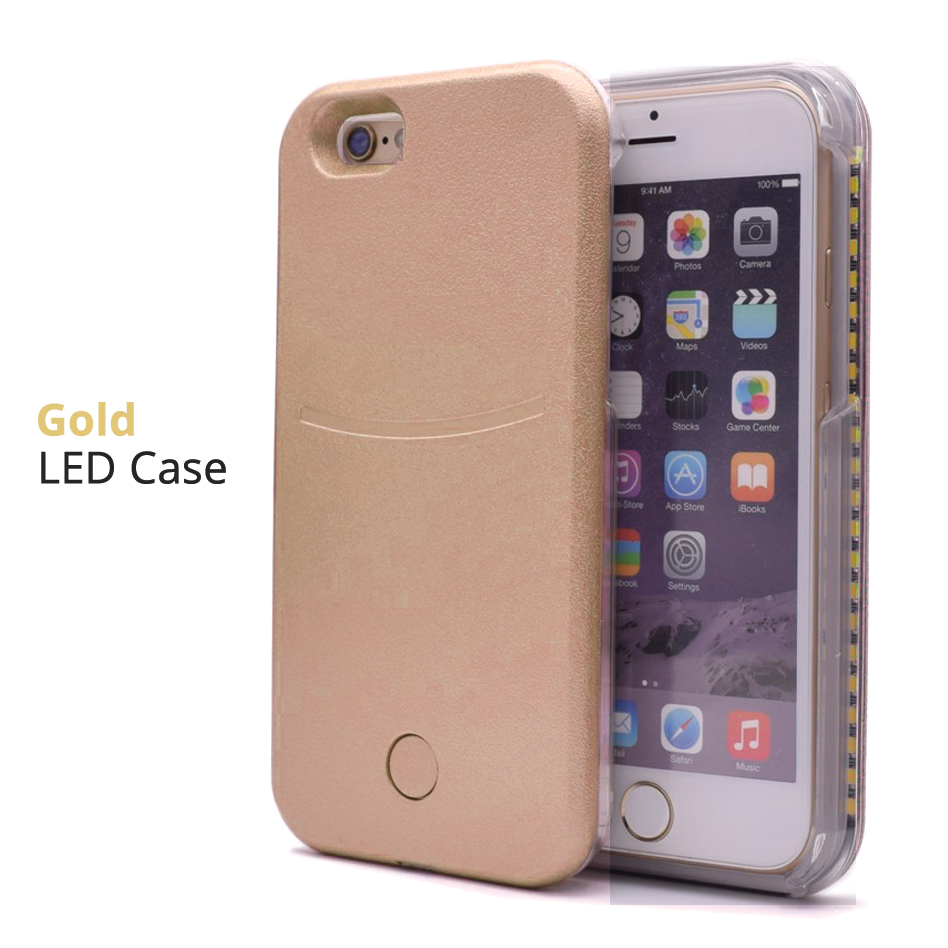 luminous led light up flash selfie case cover for apple. Black Bedroom Furniture Sets. Home Design Ideas