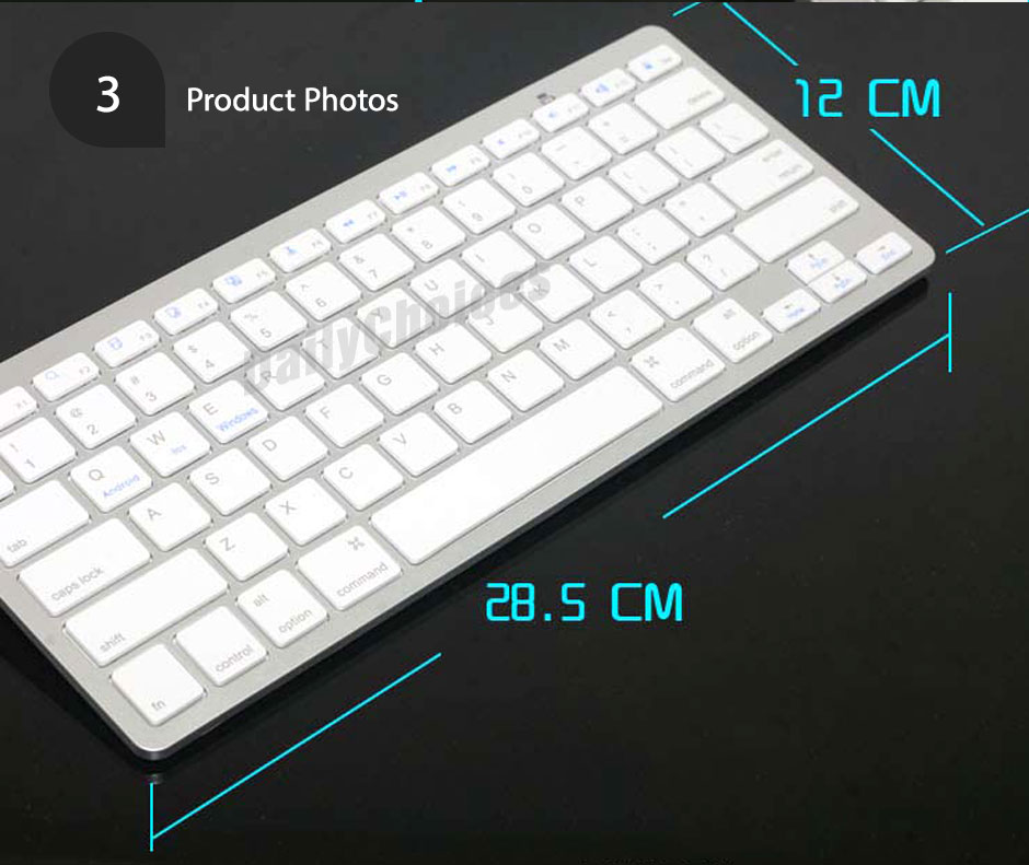 ultra slim bluetooth wireless keyboard for apple ipad iphone android mac windows ebay. Black Bedroom Furniture Sets. Home Design Ideas