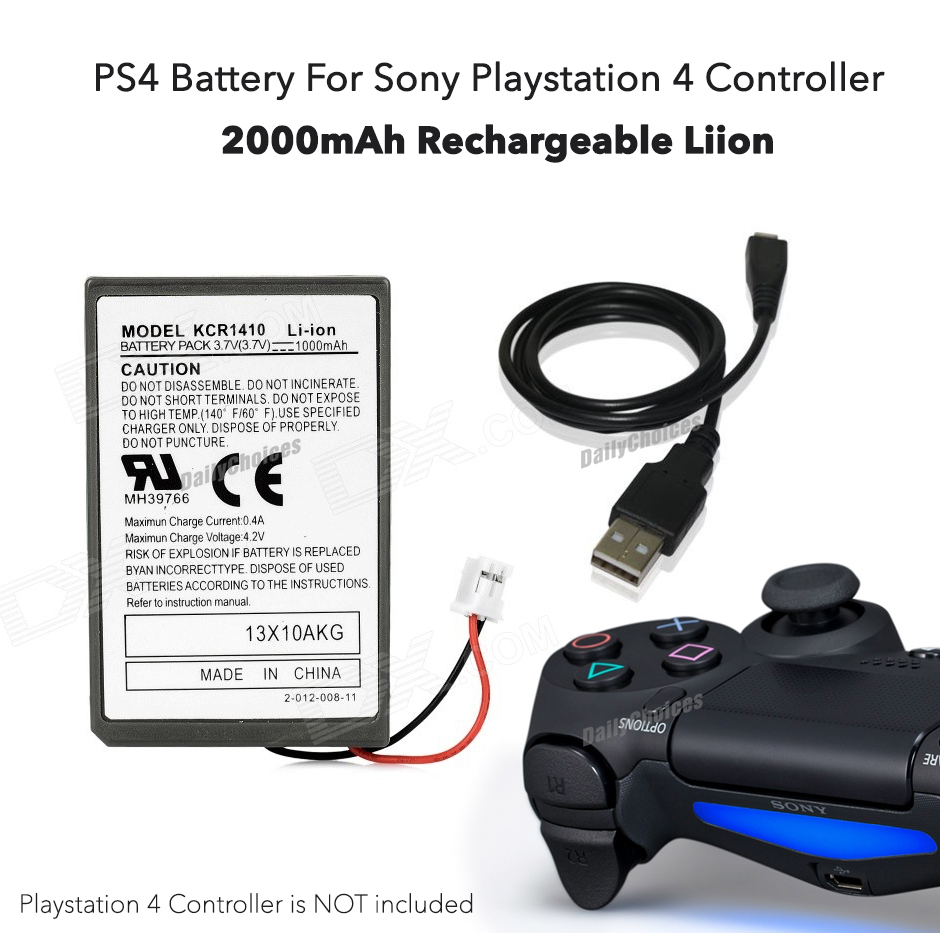 For Playstation 4 Controller PS4 Battery +USB Charger Cable