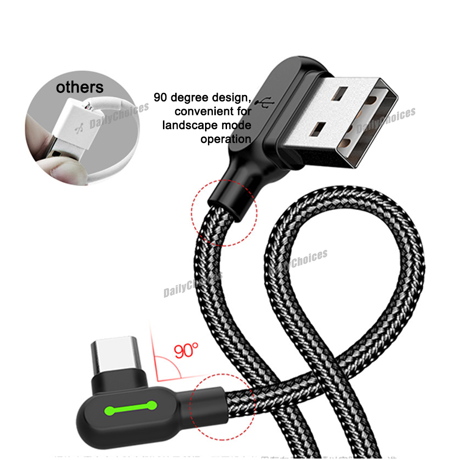 Mcdodo 90 Degree Angle Usb C Type C Sync Charging Cable
