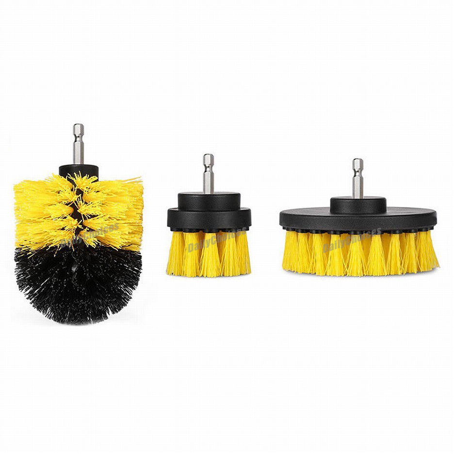 Plastic Drill Head Cleaning Brush Power Scrubber Stiff