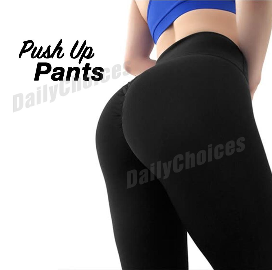 Womens Push Up Yoga Pants Fitness Sports Workout Gym